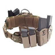 WARRIOR Opasok Padded Load Bearing with holster - coyote (W-EO-PLB-SH-MK1-CT)