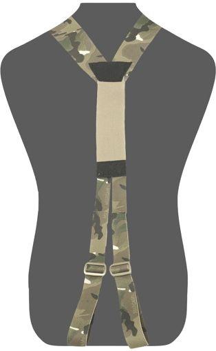 WARRIOR Opasok SlimLine Harness, Elastic Back - multicam, (W-EO-SLH-MC)