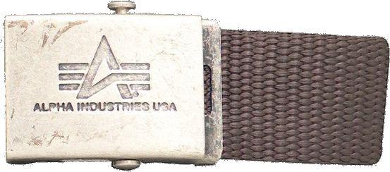 ALPHA INDUSTRIES Opasok Heavy Duty Belt - hnedý, (100906/20)