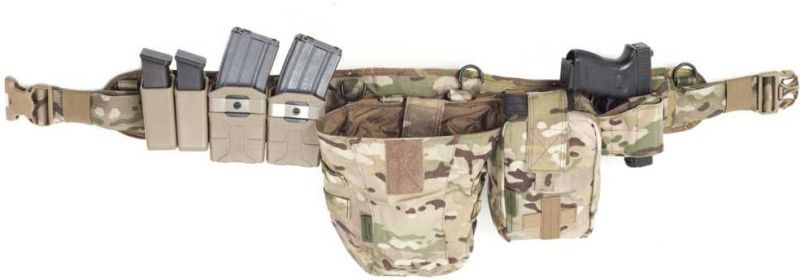 WARRIOR Opasok Padded Load Bearing with holster - multicam, (W-EO-PLB-SH-MK1-MC)