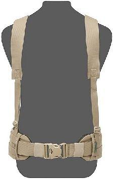 WARRIOR Opasok SlimLine Harness, Elastic Back - coyote, (W-EO-SLH-CT)