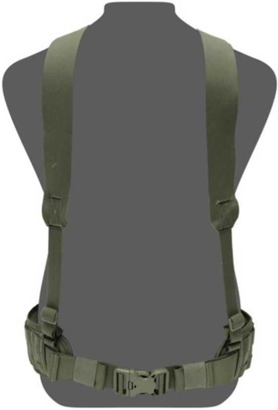 WARRIOR Opasok SlimLine Harness, Elastic Back - olive drab, (W-EO-SLH-OD)