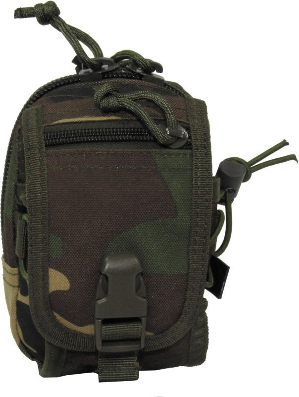 MFH MOLLE Utility pouch, zips, 10x14x9 - woodland, (30610T)