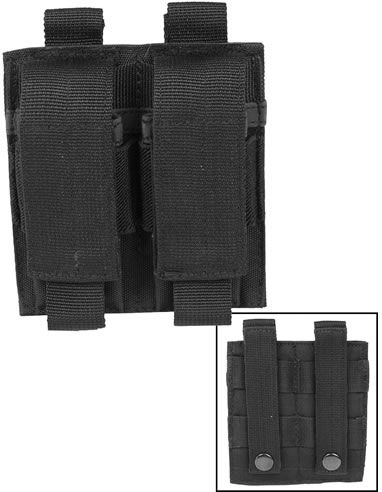 MILTEC MOLLE Double Pouch na zásobník pre pištoľ - čierny (13495502)