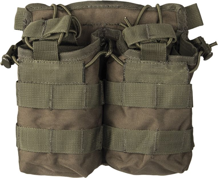 MILTEC MOLLE Double mag pouch - olivový, (13497001)
