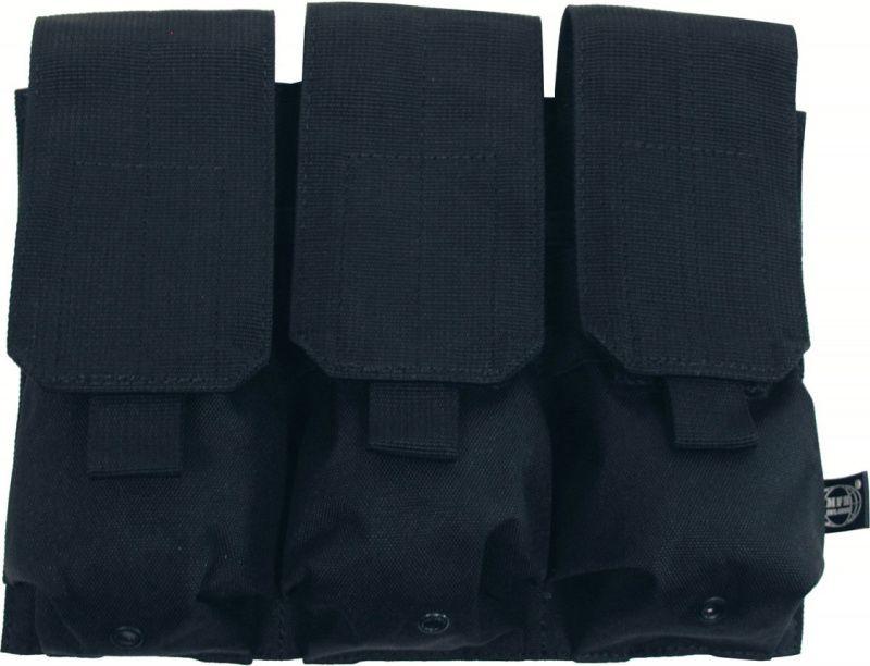 MFH MOLLE Triple mag pouch, 16x8.5x5 - čierny, (30616A)