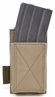 Warrior Single Elastic Mag Pouch Colours-Coyote Tan (W-EO-SEMP-CT)