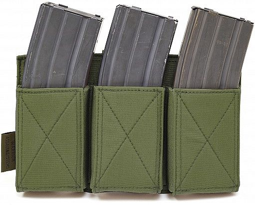Warrior Triple Elastic Mag Pouch Colours-Olive Drab (W-EO-TEMP-OD)