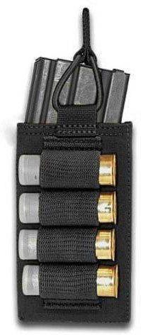 WARRIOR Single Open 5.56mm with shotgun strip - čierny (W-EO-SMOP-BSG-BLK)