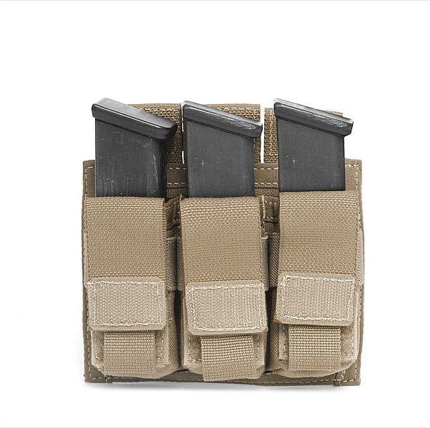 Warrior Triple DA 9mm Pistol Coyote (W-EO-TPDA-9-CT)