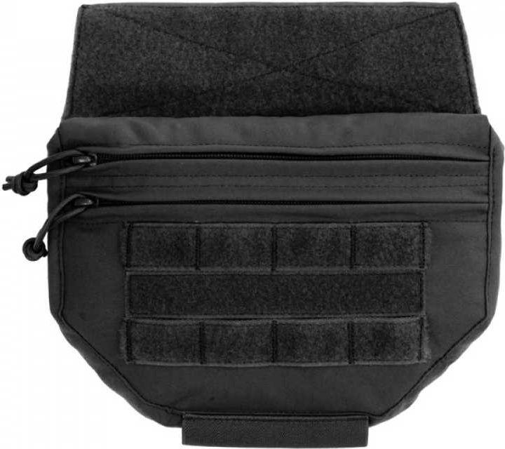 Warrior Drop Down Velcro Utility Pouch Black (W-EO-DDVUP-BLK)