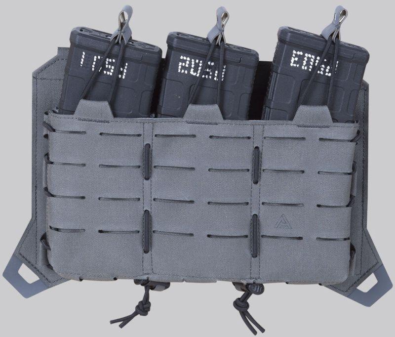 DIRECT ACTION MOLLE Panel s pouchmi na zásobníky AR/AK Spitfire Triple Rifle Mag Flap - adaptive green, (PC-R3FP-CD5-AGR)