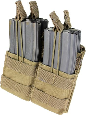 CONDOR MOLLE M4 open top double mag pouch - tan, (MA43-003)