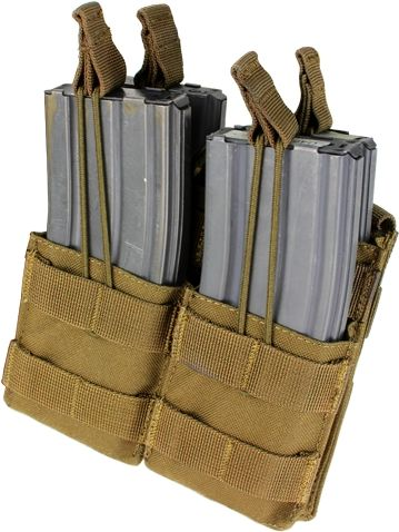 CONDOR MOLLE M4 open top double mag pouch - coyote, (MA43-498)