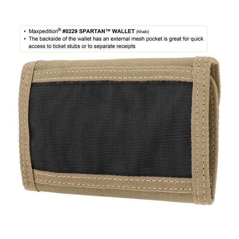 MAXPEDITION Peňaženka Spartan Wallet - khaki (MX229K)