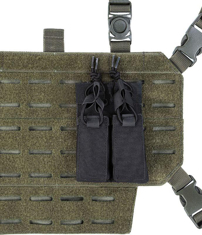 MILTEC Double pistol mag pouch hook&loop, čierny (13495802)