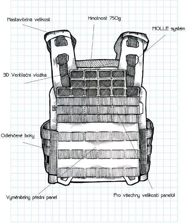 CZ 4M MOLLE Predná platforma Striker - multicam