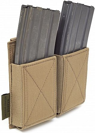 Warrior Double Elastic Mag Pouch Colours-Coyote Tan (W-EO-DEMP-CT)