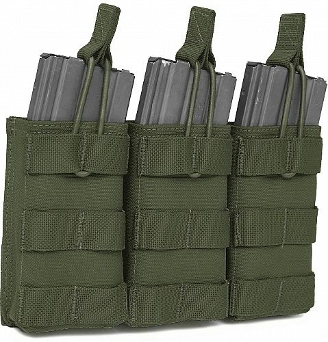 Warrior Triple MOLLE Open M4 5.56mm Olive Drab (W-EO-TMOP-OD)