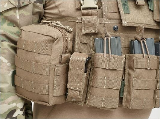 Warrior Direct Action Single 9mm Pistol Mag Pouch Coyote Tan (W-EO-SPDA-9-CT)