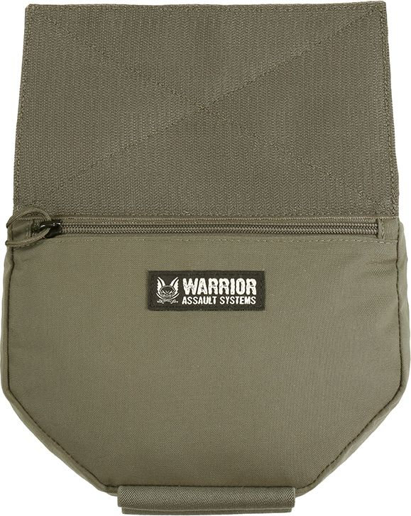 WARRIOR Laser Cut Drop Down Velcro Utility Pouch - ranger green (W-LC-DDVUP-RG)