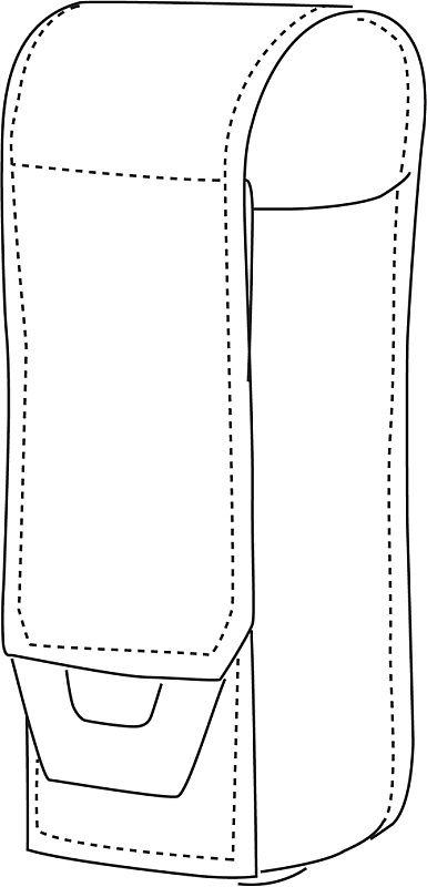 DIRECT ACTION MOLLE Pouch na flashbang Flashbang Pouch cordura - čierny (PO-FLBG-CD5-BLK)