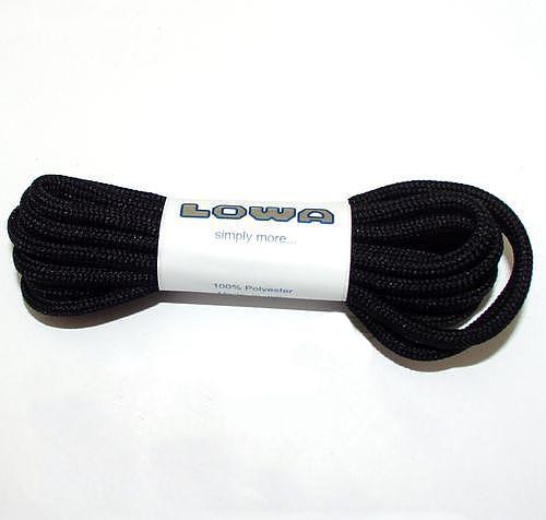 LOWA Šnúrky do topánok 110cm - čierne, (8305860999)