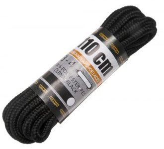 BENNON Šnúrky do topánok 110cm - čierne, (D31110)