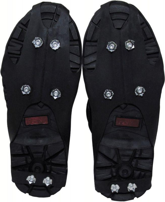 Protišmykové návleky na topánky, 6 hrotov, čierne, 39243