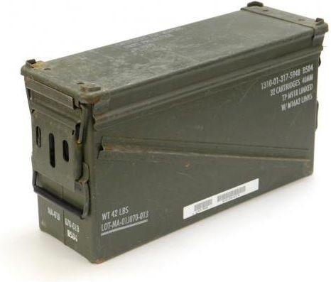 US LG 40mm Muničná bedňa, používaná