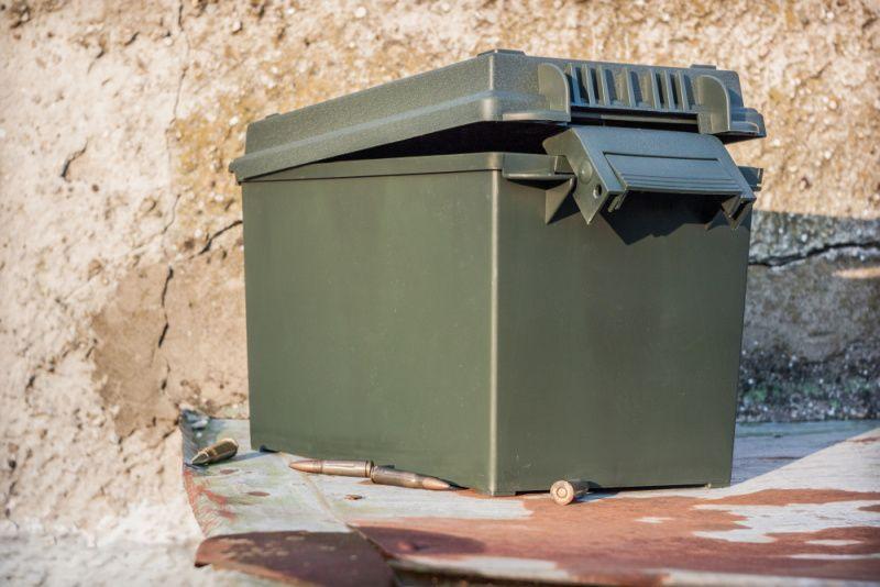 Muničná US bedňa plastová MFH 27156 - olivová