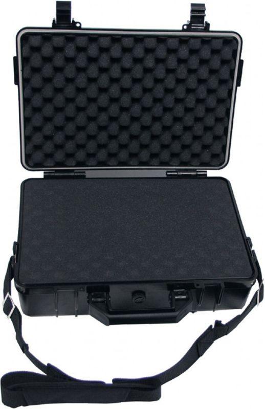 Plastový box, vodotesný, 39 x 29 x 12 cm, čierny, 27161