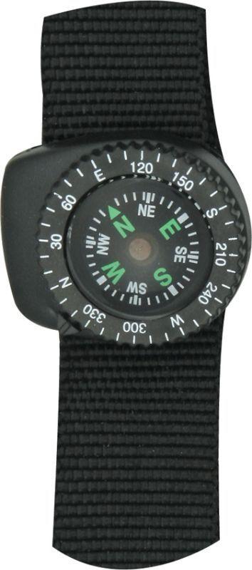 EXPLORER Kompas s náramkom na ruku, suchý zips - čierny, (EXP19)