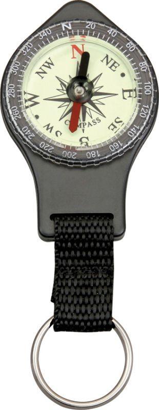 """EXPLORER Kompas Keyring Compass Black 4"""" overall, (EXP46)"""