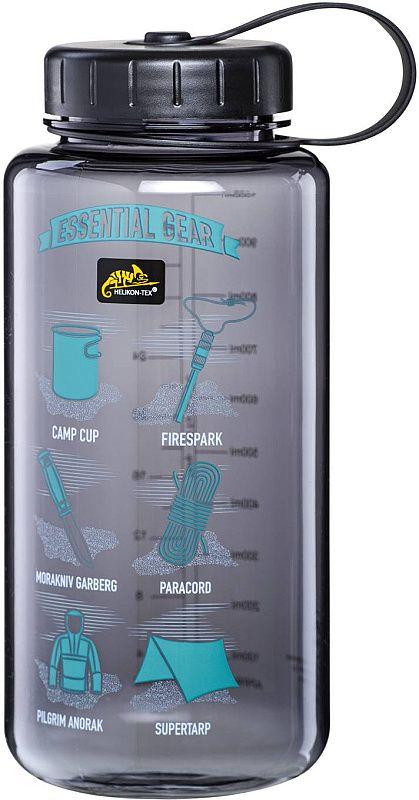 HELIKON Fľaša Tritan Bottle 1L Mouth Gear - šedá (HY-WG1-TT-0101A)