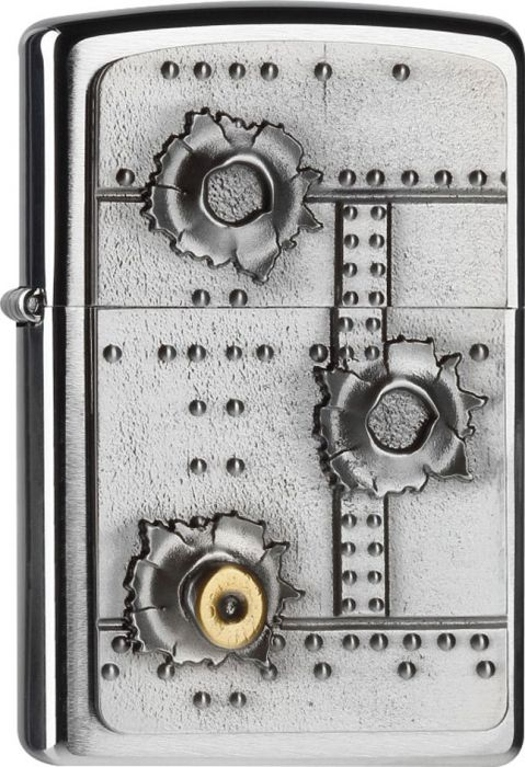 ZIPPO Zapaľovač BULLET HOLES 3D (21805)