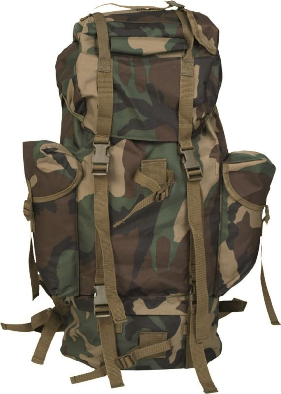 MILTEC Batoh BW bojový - woodland, (14023020)