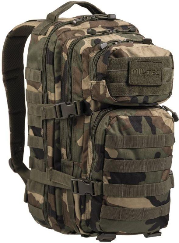 MILTEC Batoh Assault 20L - woodland, (14002020)