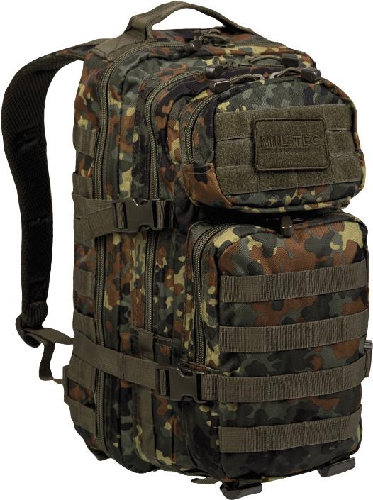 MILTEC Batoh Assault 20L - flecktarn, (14002021)