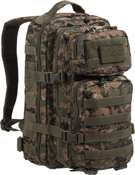 MILTEC Batoh Assault 20L - digital woodland, (14002071)