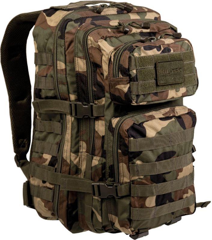 MILTEC Batoh Assault LG 36L - woodland, (14002220)