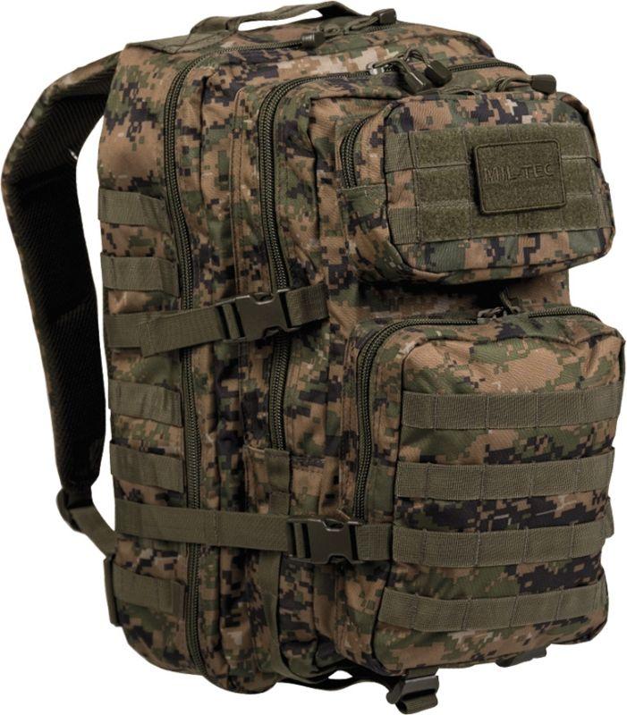 MILTEC Batoh Assault LG 36L - digital woodland, (14002271)