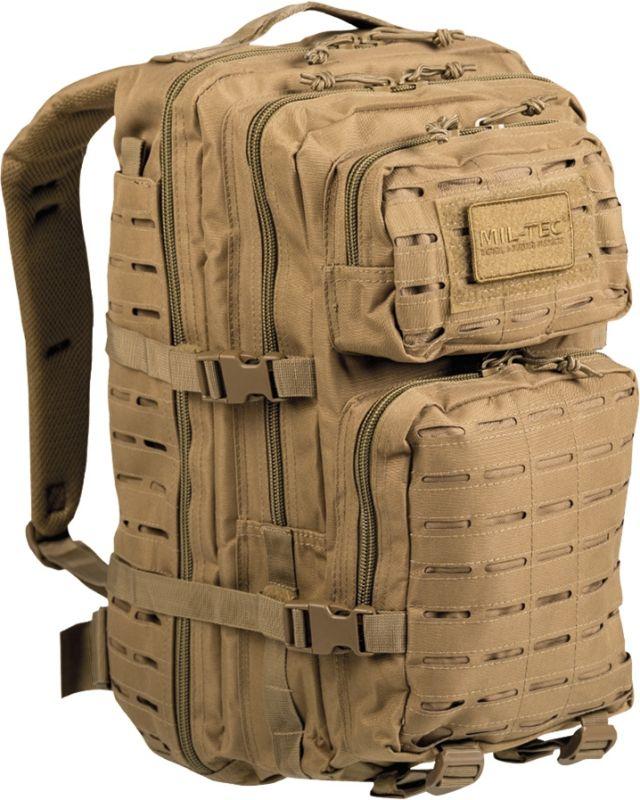 MILTEC Batoh Assault LG 36L laser cut - coyote, (14002705)