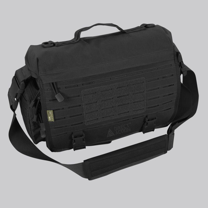 DIRECT ACTION Taška cez rameno Messenger Bag Mk. II. - čierna, (BG-MSGM-CD5-BLK)