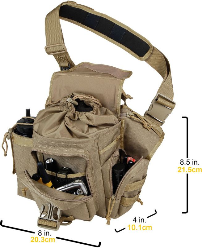 Taška cez rameno Maxpedition Jumbo Versipack, khaki, MX412K