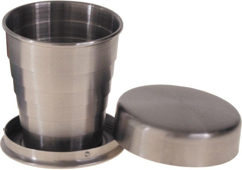 Skladací teleskopický hrnček z nerezovej ocele, 40ml