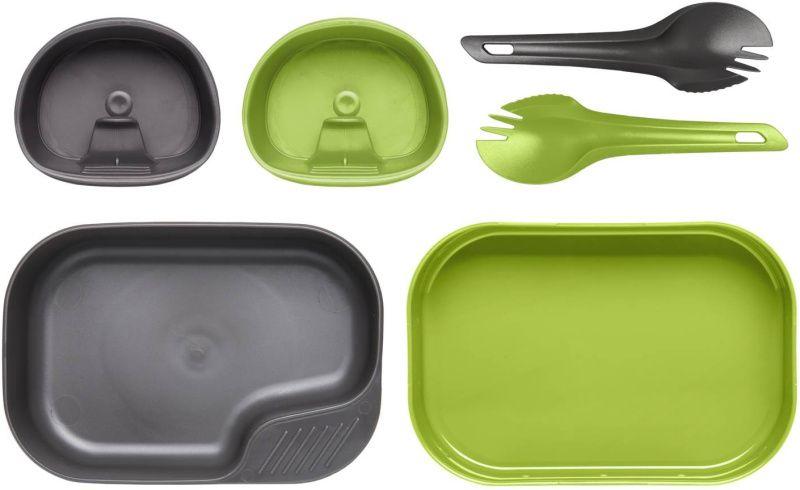 WILDO Kempingový stravovací set DUO Light, zeleno/šedý, SE-CDL-PP-6719A