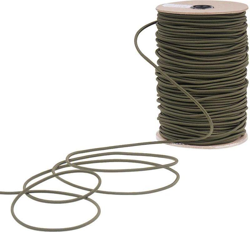 EDCX Meraná elastická šnúra Shock Cord 3,6mm / 1m - army green