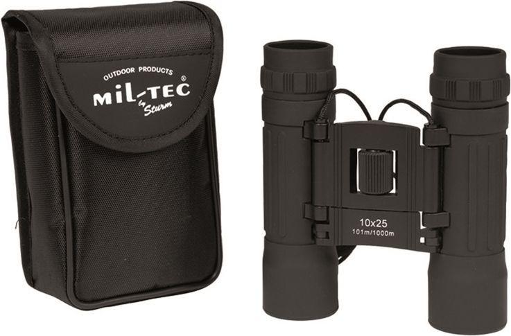 MILTEC Ďalekohľad 10x25 - čierny, (15702002)