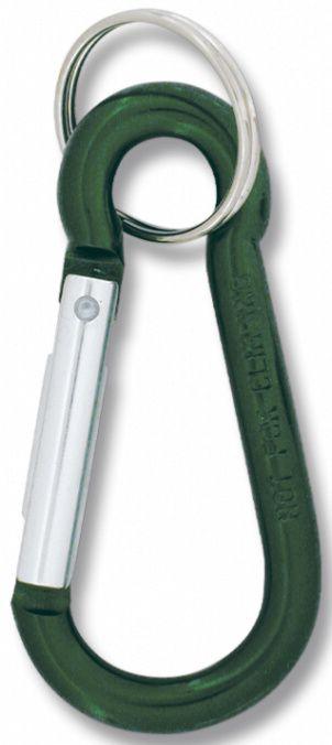 Karabínka na kľúče 6cm, zelená